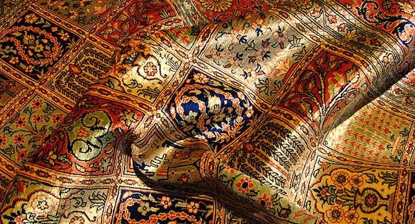 Isfahan silk carpet