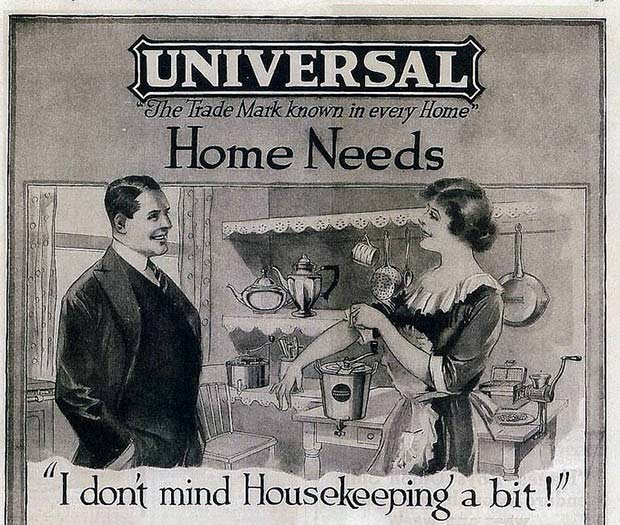 Universal vintage home cleaning ad