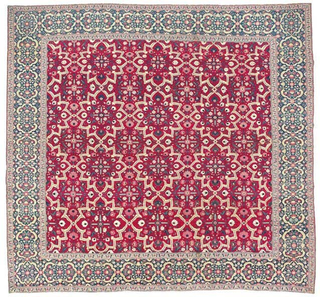 Mughal Star Lattice Carpet