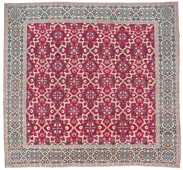 Mughal Star Lattice Carpet