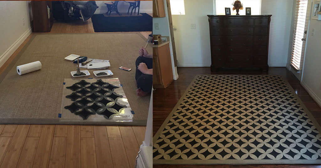 stencil rug