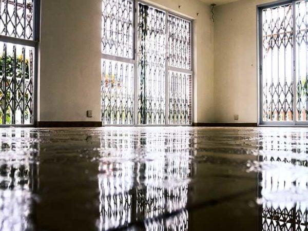 leak flooding carpet home