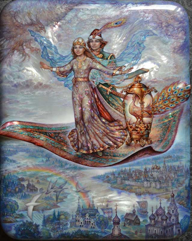 the magic carpet fedoskino by sergey knyazev