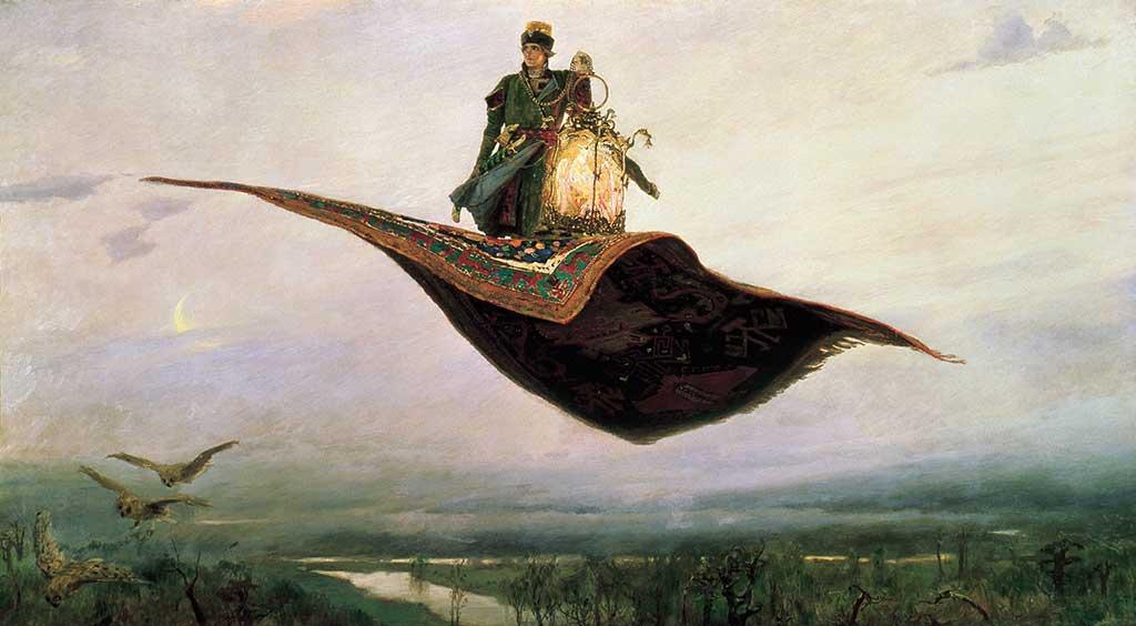 the flying carpet viktor vasnetsov