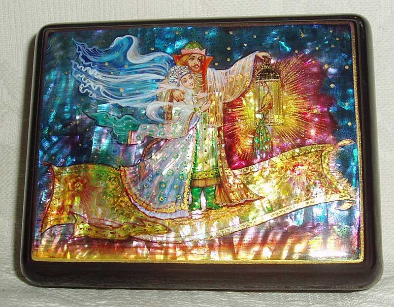 mother of pearl russian lacquer box
