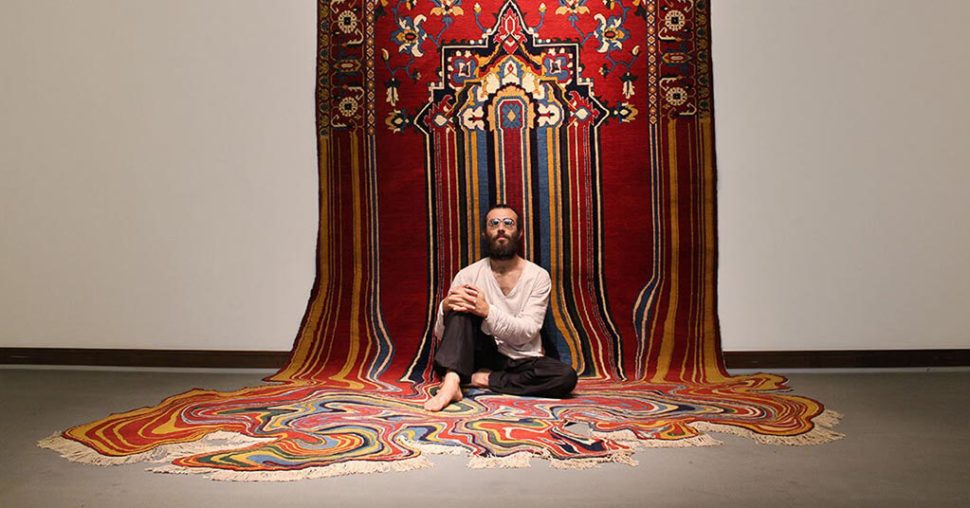 faig ahmed modern melting carpets