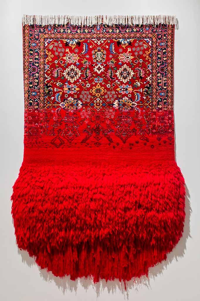 virgin faig ahmed carpet rug art
