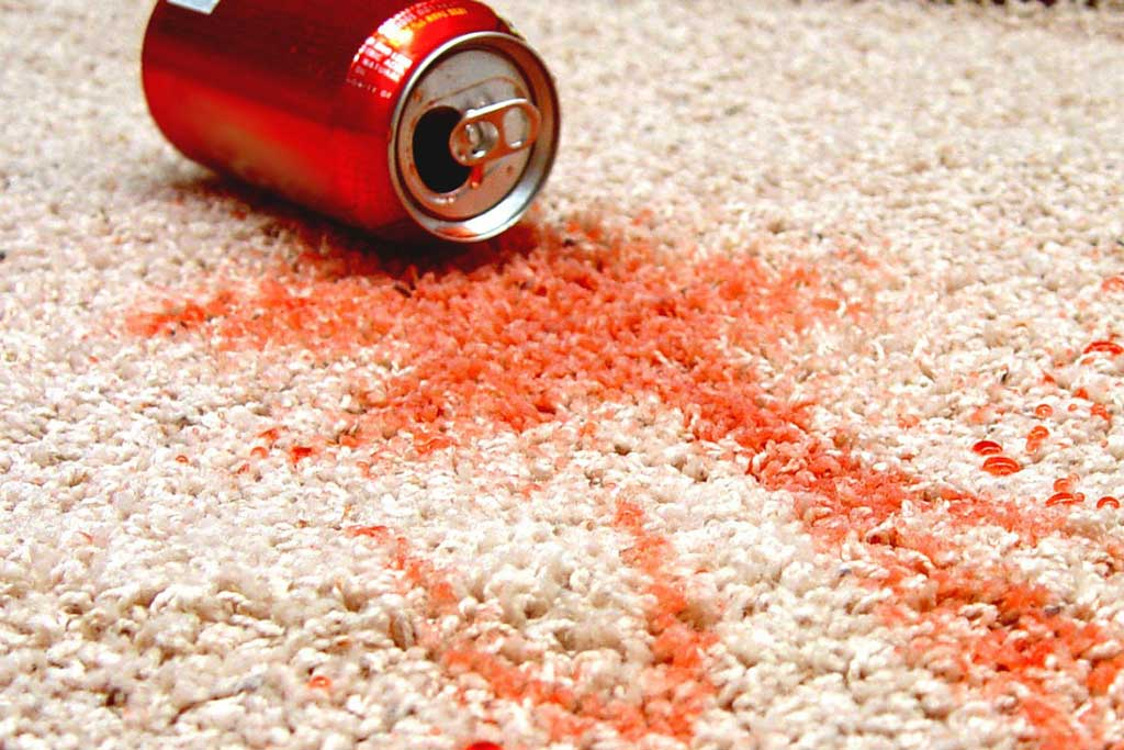 cooldrink soda carpet spill clean