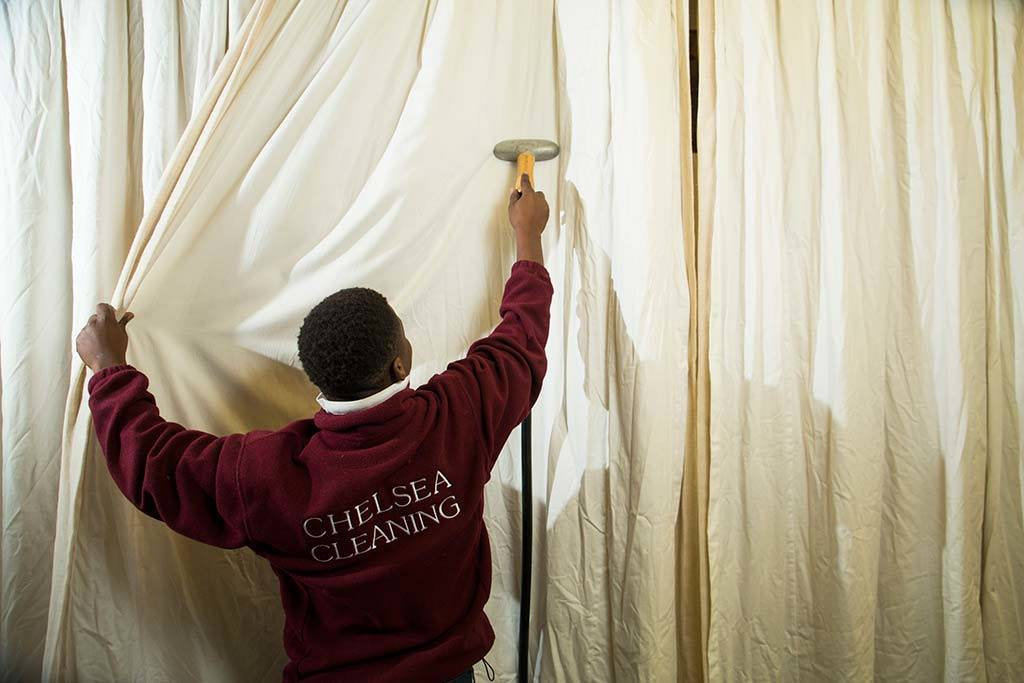 steaming curtains