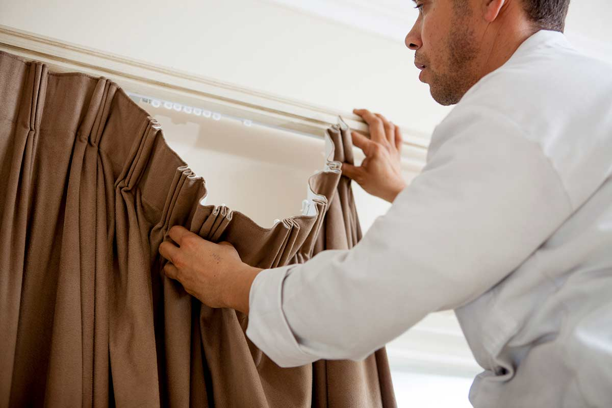 rehanging curtains