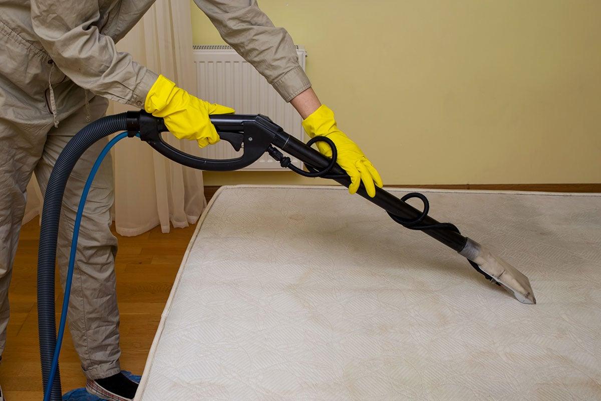 vacuuming mattress