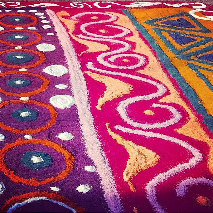 sawdust carpet