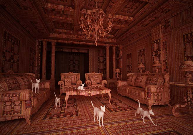 Azerbaijani Doctor Turned Artist Creates Carpet Rooms